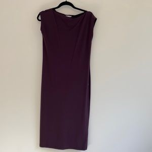 Lk NEW JCrew midi sheath dress size medium wine
